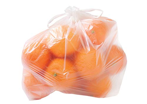 5000 Knotenbeutel Plastiktüten Hemdchentüten für Obst, Gemüse, usw. transparent 22+12x39cm 8my Größe für 3kg auf Rolle - Inkl. Verpackungslizenz in D