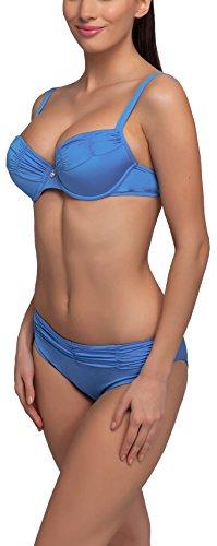 Feba Figurformender Damen Push Up Bikini L51N1 (Blau, Cup 70 D/Unterteil 36)