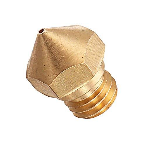 Y-longhair 3D Printer Parts, 0.4mm 3pcs M7 Screw Thread MK10 Copper Nozzle for 3D Printer 1.75mm Filament