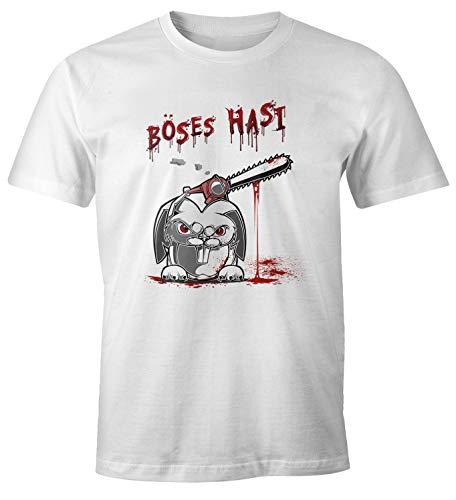 MoonWorks® Herren T-Shirt böses Hasi...