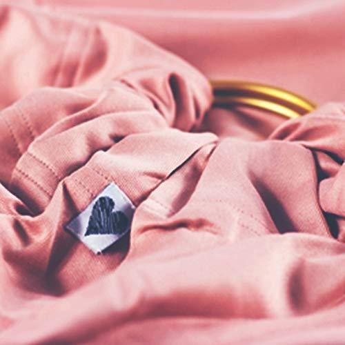 Shabany® – Ring Sling Tragetuch – 100% Bio Baumwolle – Für Neugeborene Kleinkinder bis 15 KG – inkl. Baby Wrap Carrier Anleitung – rosa (cuddles) - 5