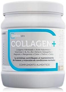 Colágeno hidrolizado +Ácido hialurónico + Vitaminas C. B2. B3 y B6 + Extracto Harpagofito + Magnesio + Manganeso + Cobre + Fósforo + Calcio - 350gr