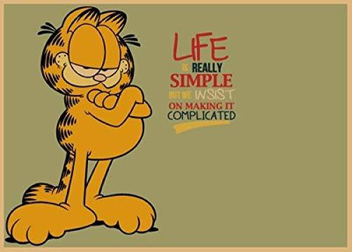 LDTSWES® Rompecabezas de Madera, Rompecabezas de 1000 Piezas, para desarrollar Inteligencia Niño Niña Diversión Regalo Trabajo Hecho a Mano Puzzle-Garfield Dibujos Animados