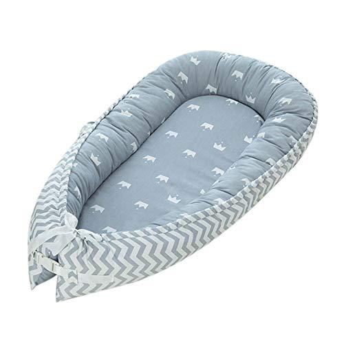 Cama de bebé portátil, Cama portátil Ajustable Recién Nacido Algodón Suave Transpirable para posicionamiento del sueño del bebé Cómoda Fácil Limpieza Tumbona para Dormir