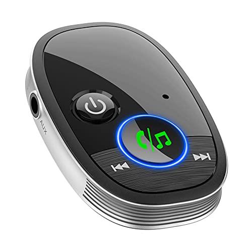 B Blesiya Adaptador de Audio Inalámbrico Del Receptor Elíptico Bluetooth para El Altavoz Del Teléfono