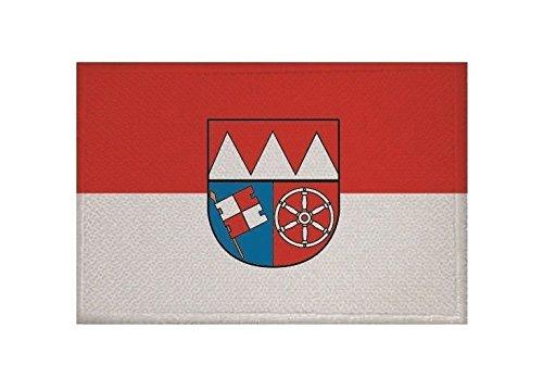 U24 Aufnäher Unterfranken Fahne Flagge Aufbügler Patch 9 x 6 cm