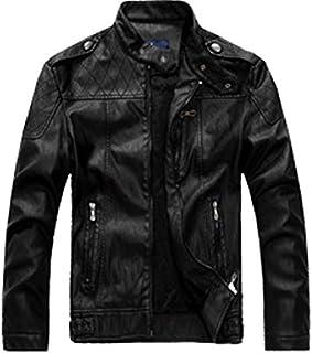 HAWEEL Men Plus Velvet Motorcycle Jacket Coat Windbreaker Jacket
