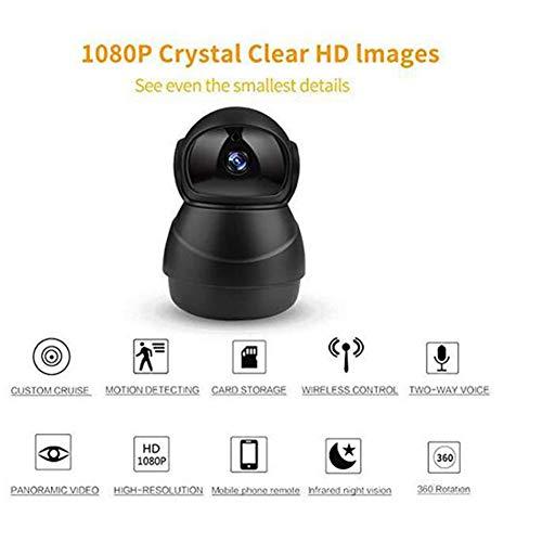 LOISK Camara Vigilancia WiFi Interior, HD 1080P Camara Vigilancia Bebe con Vision Nocturna, Audio de 2 Vías, Sensor Movimiento y Cloud, Camara IP para Bebe/Ancianos/Mascota Monitoreo