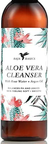 Aloe Vera Face Cleanser by Baja Basics with Rose Water and Argan Oil Gentle Foaming Deep Cleansing product image
