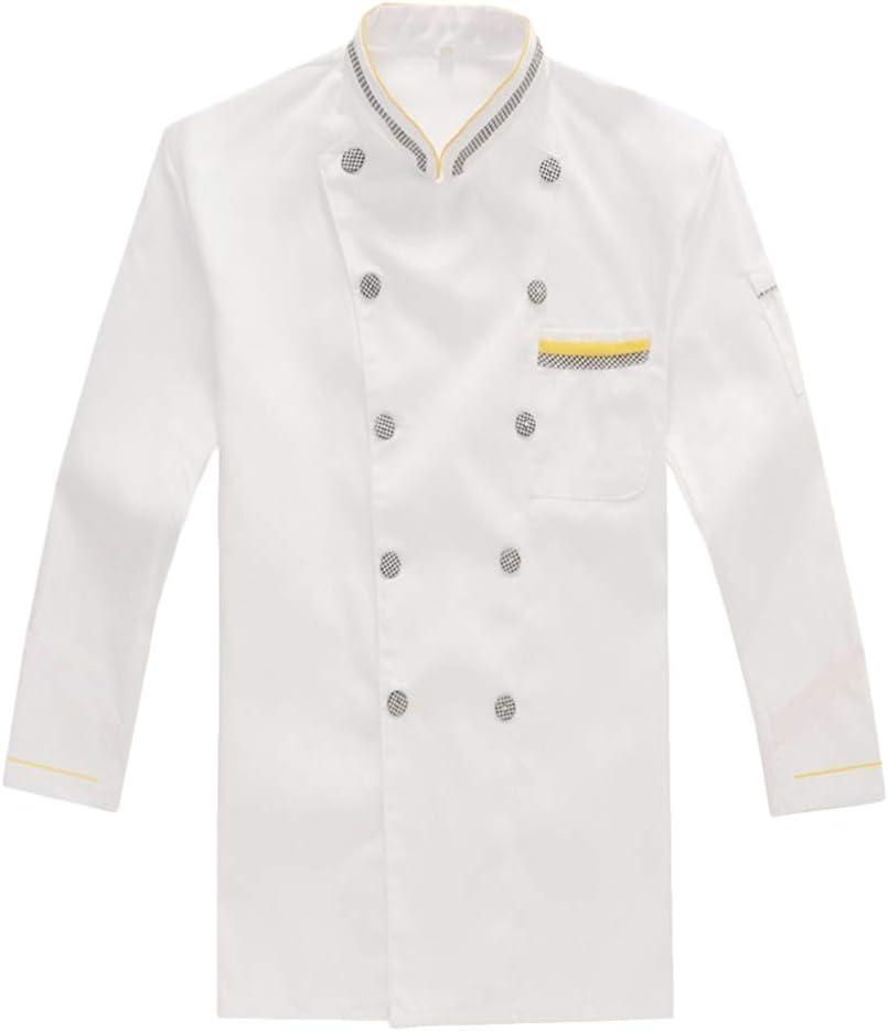 Cabilock Unisex Chef Max 62% OFF Coat Ranking TOP16 Long Jacket Sleeve Cotton Un
