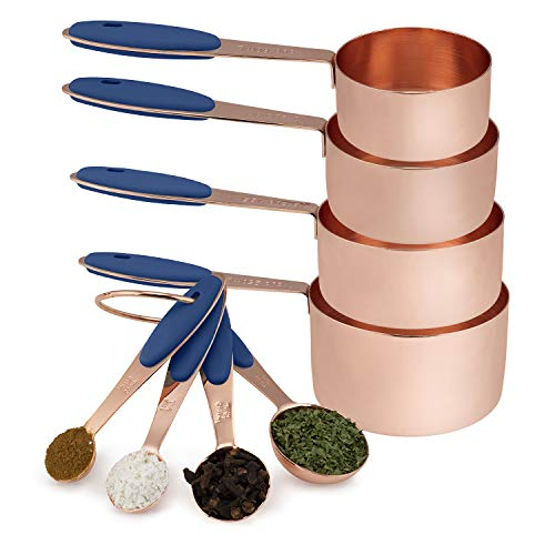 Copper Measuring Cup and Spoon