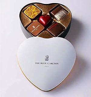 【 リッツカールトン 】 オリジナルチョコレート ハート缶 5個入り リッツ・カールトン ショップバッグ付 バレンタイン ホワイトデーチョコレート チョコ ショコラ ボンボン プラリネ トリュフ