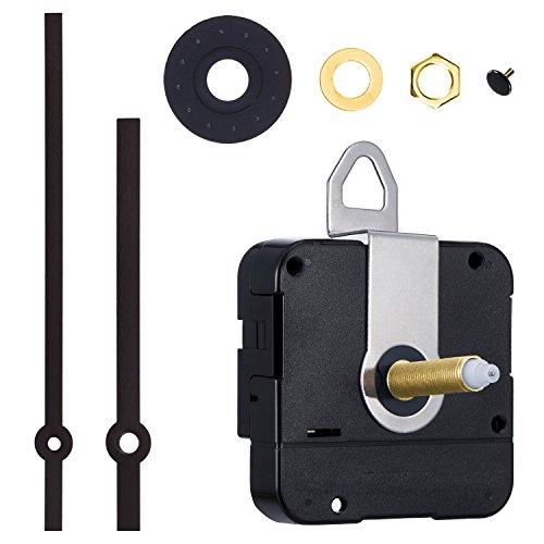 31 mm Lang Shaft Quarz Uhrwerk DIY Uhr Reparatursatz (Schwarz)