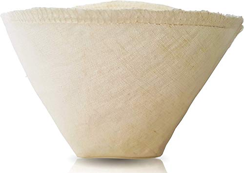 Pinyon Products Bio-Kaffee-Filter aus Hanfstoff, wiederverwendbar, natürlich, ungebleicht, umweltfreundlich, Kegel-Tropffilter