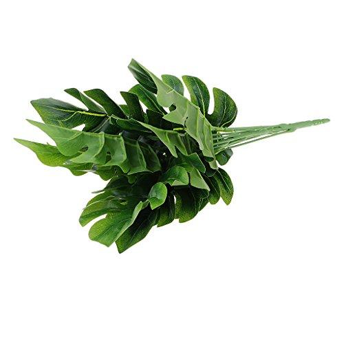 Bonarty 1 Bouquet 9 Fork Simulation Pflanzen Palm Tree Turtle Leaves Bonsai Garden Roman Bush Topfpflanzen Für Home Office Lebensechte Dekoration