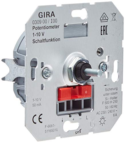 Gira 030900 Potentiometer 1 Schaltfunktion 10 V Einsatz