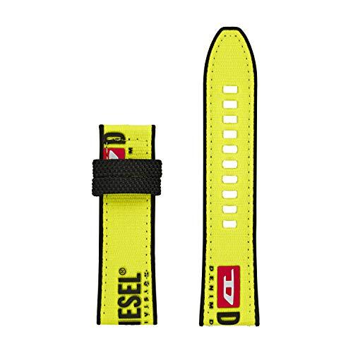 Diesel On - Correa de reloj para hombre, 24 mm, compatible con relojes inteligentes Diésel en visualización táctil, Amarillo