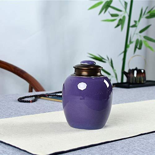 XZYP Funeral Asche Jar Urn für Menschen Einäscherung Pet Ashes Halter Keramik-Andenken Pal Asche Urnen Casket Für Urn Dichtungs-Speicher-Can,E