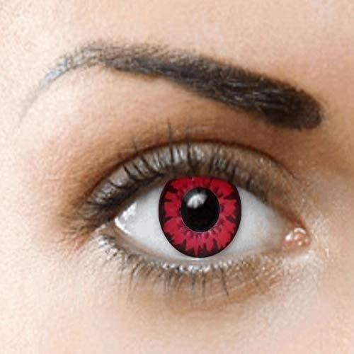 PHANTASY Eyes® Farbige Kontaktlinsen Ohne Stärke (Vampire/Volturi) Bella; perfekt zum Halloween und Karneval, Jahres Linsen, 1 Paar crazy fun Contact linsen + Kontaktlinsenbelälter!