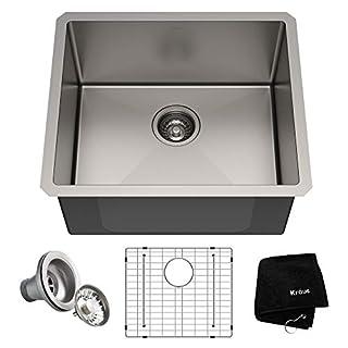 KRAUS Standart PRO 21-inch 16 Gauge Undermount Single Bowl Stainless Steel Kitchen Sink (B07HGVSTB4) | Amazon price tracker / tracking, Amazon price history charts, Amazon price watches, Amazon price drop alerts