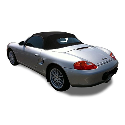Compatible with Porsche Boxster 986 1997-2002 Convertible Top With Heated Glass Window Black Stayfast