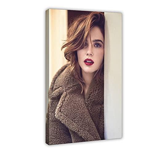 Emilia Clarke Zoey Deutch Pinterest najlepsze płótno plakat sztuka ścienna dekoracja druk obrazy do salonu sypialni dekoracja rama: 24 × 36 cali (60 × 90 cm)