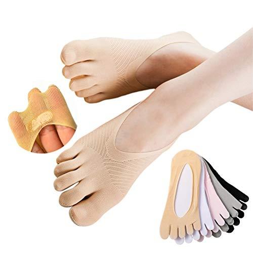 Lseqow Damen Zehensocken, Fünf Finger Socken aus Baumwolle, Dünne Fünf Zehensocken, Damen Lady...