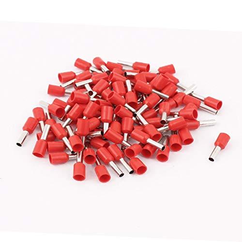 New Lon0167 100Pcs E2508 Destacados Red Crimp Conector eficacia confiable Pin aislada Terminal para 14 AWG Wire(id:173 5d 4f f6a)