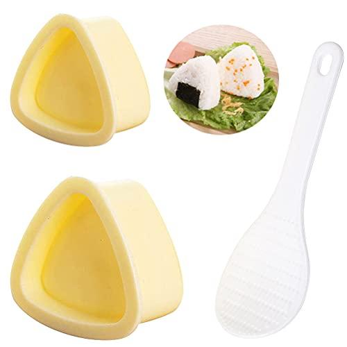 Triangle Onigiri Mold, 2 PCS Beige Triangle Sushi Mold,Rice Ball Mold...