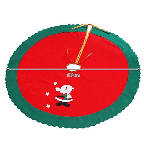 BESPORTBLE Falda de árbol de Navidad Base de árbol Decoración Delantal Envoltura de Fieltro Estampado de Tela Falda de árbol Decoración de Navidad Atrezzo Suministros, 87 cm / 34 Pulgadas