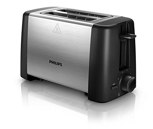 Philips HD4825/90 Toaster, Kunststoff, Schwarz/Edelstahl