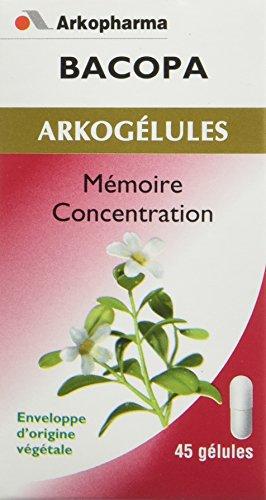 Arkopharma Phytothérapie Standard Arkogélules Bacopa Flacon de 45 Gélules