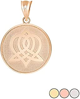 Celtic Knot Jewelry Round Gold Sisterhood Celtic Knot Disc Charm Pendant