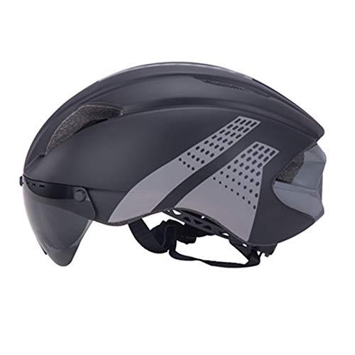 Nrpfell Casco de Bicicleta Casco de Bicicleta con Gafas MagnéTicas Desmontables para Adultos Ciclismo de MontaaA en Carretera Hombres/Mujeres L