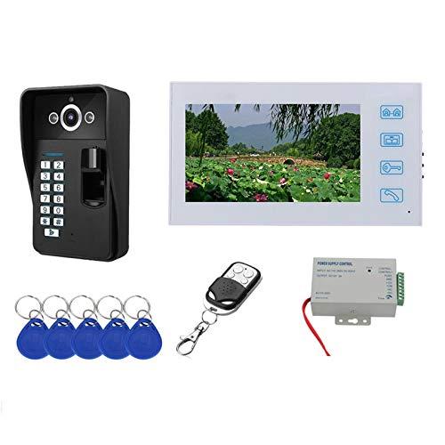 Video-Türklingel, Entriegelung Der Fingerabdruck-Fernbedienung, Video Türsprechanlage, Gegensprechanlage, RFID...
