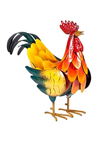 La Hacienda 55281 réaliste Son Coq, Multicolore, 12 x 35 x 29 cm