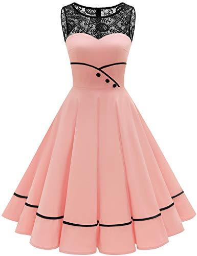 Bbonlinedress schwarzes Kleid Damen cocktailkleid Damen Rockabilly Kleider Damen Kleider Hochzeit Abendkleider lang Geschenk für Frauen...