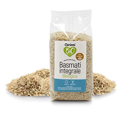 Carioni Food & Health Riso Basmati Integrale, 500 Grammi (Confezione da 10 Pezzi)