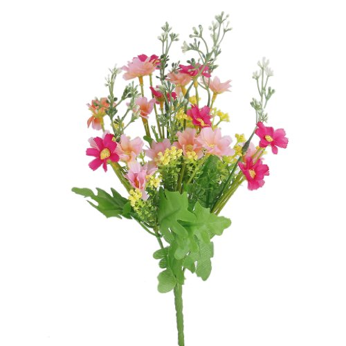 1 Ramo de Flores Artificiales cinerarias para decoración, hogar, Oficina