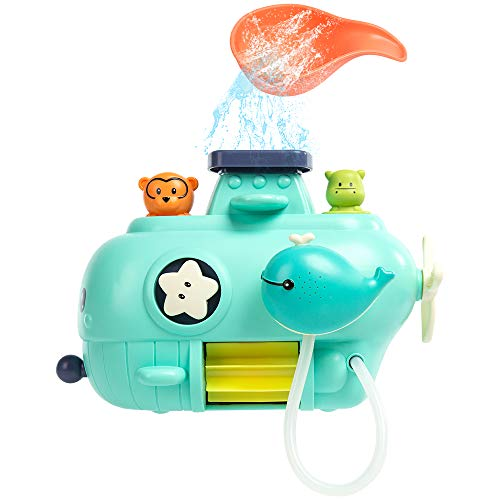 BUBHFYT Baby Shower Game Bath Toys - Bath Baby Toy for 1,2,3+ Year Old Boy Girl Toddler Gift Toys Set, Kid Baby Bathtub Toy 16 Months Plus, Waterfall Water Station Toy with Cup
