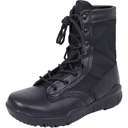 Botas de montaña para Hombre Botas de Senderismo Deportivas de Viaje de Escalada con Cordones de Tiro Alto-Black  EU40/US7.5