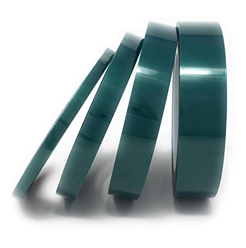 APT, (Multi-Sizes in One Pack) 2 Mil Polyester Tape with Silicone Adhesive, PET Tape, high Temperature Tape, 3.5 mil Thickness, Powder Coating, E-Coating. (1/4'',1/2'',3/4'',1'')