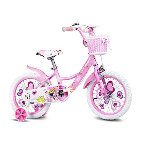 Llq2019 Vélo Fille vélos pour Enfants 12 Pouces, 14 Pouces, 16 Pouces, vélo de vélo pour Les Enfants 2-3-6-8 Ans Cadeau Enfant de vélo Mode vélo (Color : Green, Size : 16INCHES)