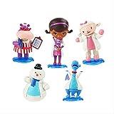 N\a 5 Piezas 7 Cm Doc McStuffins Figuras Doctor Lambie Oveja Peluche Dragn Hallie Hipoptamo Fro Mueco De Nieve Modelo Juguetes para Casa