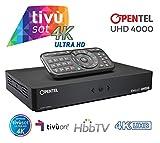 OPENTEL UHD 4000 TVS Ricevitore Satellitare 4K UHD con HbbTV - primo ricevitore tivùsat in 4K UHD con nuovo standard servizi interattivi HbbTV