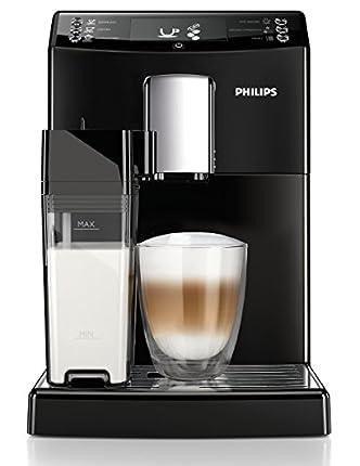Philips 3100 series EP3550/00 - Cafetera (Independiente, Máquina espresso, Totalmente automática, 1,8 L, Granos de café, De café molido, Molinillo integrado) Negro