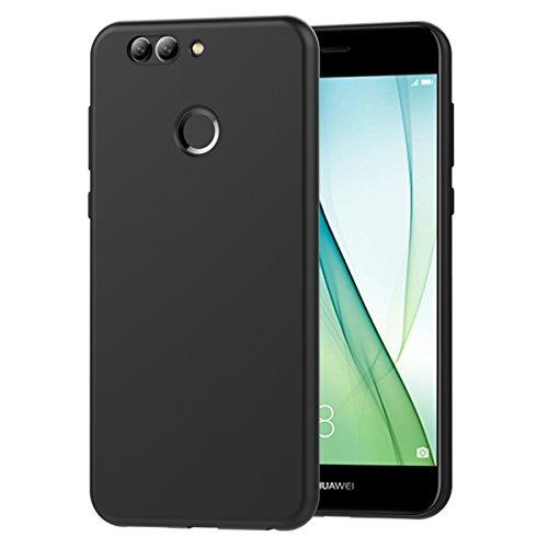 ivoler Hülle für Huawei Nova 2, Premium Schwarz Tasche Schutzhülle Weiche TPU Silikon Gel Schutzhülle Hülle Cover für Huawei Nova 2