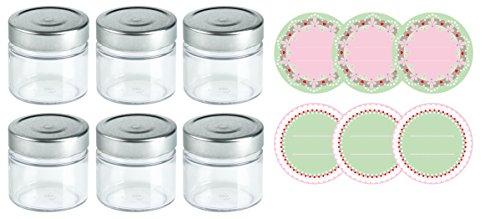 Dr. Oetker Einmachgläser mit Schraubverschluss und Twist-off Deckeln, Marmeladengläßer mit Etiketten zum Aufkleben und Beschriften, hitzebeständige Sturzgläser in Geschenkbox (Menge: 6 Stück)