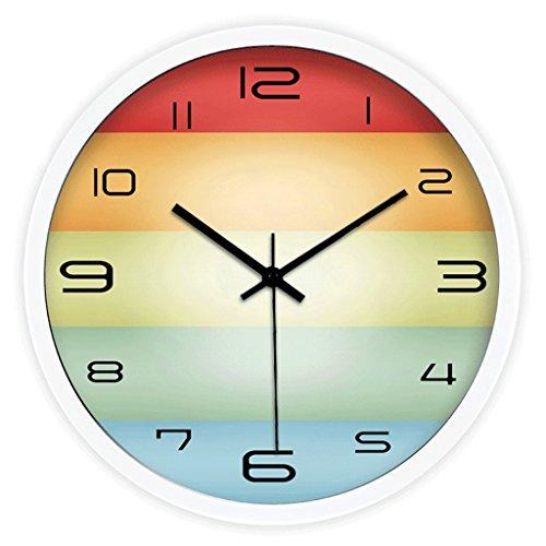 Reloj de pared redondo silencioso del color de la moda, campana de...
