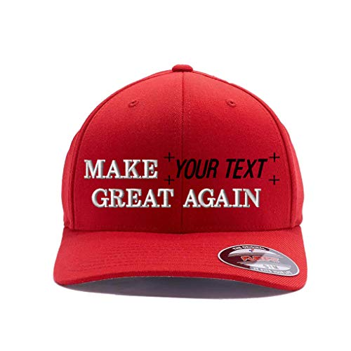 Make Your Text Great Again. Embroidered. 6477 Wool Blend (S/M, Red)